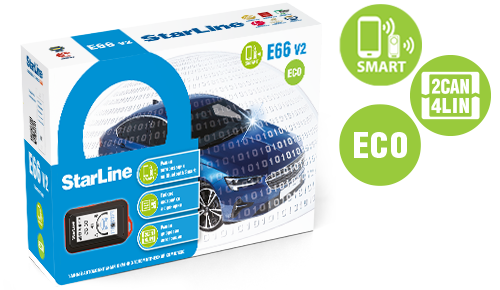 Автосигнализация StarLine E66 V2 BT ECO 2CAN+4LIN